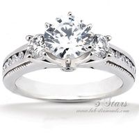 3Stars Lab Diamond Engagement Ring  I don't usually like stone trios, but this is very pretty!