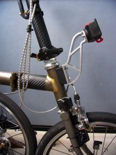 Bromptonのブレーキを換えた場合のバッグアダプタの解