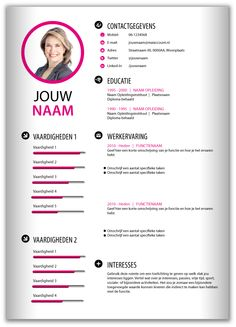 De Curriculum Vitae Of Het Curriculum Vitae Resume Design Template, Cv Template, Resume Templates, Cv Tips, Resume Tips, Microsoft Word, Cv Unique, Curriculum Vitae Simple, Word Cv