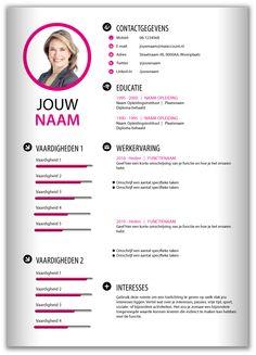 CV template 2021. Laat de lay out van je CV pimpen en eventueel de