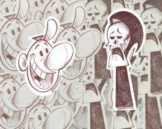 Grim  Billy Sticker Pack/ Grim Adventures Of Billy  Mandy/ | Etsy