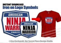 ██████████  AMERICAN NINJA WARRIOR LOGO SYMBOLS  ✦ INSTANT DOWNLOAD (Digital Art that You Download & Print Yourself) ✦ 5 INCHES WIDE ✦ PRINTS ON 8-1/2 x 11 PAPER  So many creative uses:  * T-Shirts * Party Decorations * Sleepover * Labels * Gift Bag Tags  ██████████  H O W . I T . W O R K S:  1/ INSTANTLY DOWNLOAD THE DIGITAL LOGO SYMBOLS After payment has been confirmed follow the link to your Etsy Download page (or find it on your Etsy Purchases page). Please note: I recommend working on a…