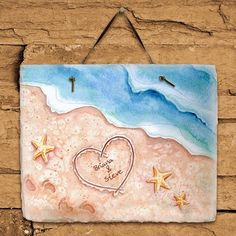 Personalized Shores of Love Slate Plaque