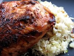 Dijon Chicken With Pomegranate Glaze Recipe — Dishmaps