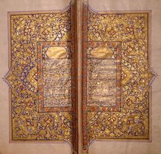 "Surat 113 Falaq (The Dawn) on right, & Surat 114 Nas (Humankind) on the left. These are short, mystical and very beautiful. Falaq: ""Say: 'I seek refuge with the Lord of the Dawn, from the mischief of created things; from the mischief of Darkness as it overspreads; from the mischief of those who practice secret arts; And from the mischief of the envious one as he practices envy.'"". . .an entreaty to Muslims not to create envy. . . no ostentatious show. . .it is just plain Kindness! (A…"
