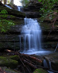 """Sam Calhoun on Instagram: """"One of the many beautiful cascading waterfalls i found on my early January hike in Bankhead National Forest, AL.  #explore #getoutstayout…"""""""