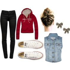 chaussure pas cher,I hate the converse and hollister top, but I love the idea of this outfit! Hollister Outfit, Hollister Clothes, Outfits For Teens, Casual Outfits, Cute Outfits, Fashion Outfits, School Outfits, Converse Outfits, Passion For Fashion