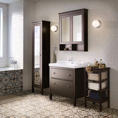 Keep it classic with our HEMNES bathroom range.