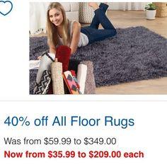 Floor rugs #onsale at #spotlight 40% off until 10/5/16 #nearlyhalfprice #floorrug #rugs #apr16 #may16 #spotlightstores #reduced #discounted #homedecor #whypayfullprice #savvysaver