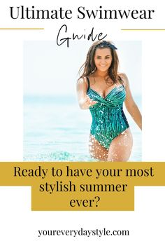 I get it!! No one really enjoys shopping for a swimsuit. The task can feel daunting. Have no fear, I'm here to help share tips for making the process a little easier, and the results more successful. Grab a good book, a pair of sunglasses, and enjoy your most stylish summer ever! Hot Summer Outfits, Mom Outfits, Swimwear Guide, Warm Weather Outfits, Stylish Clothes For Women, Swimsuits, Bikinis, Women's Summer Fashion, Mom Style