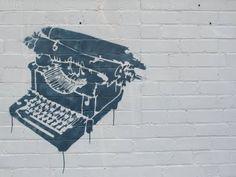 Literary street art.