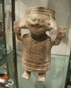 Ceramic figure from the Veracruz culture of Mexico (600 AD - 1100 AD), at the Denver Art Museum