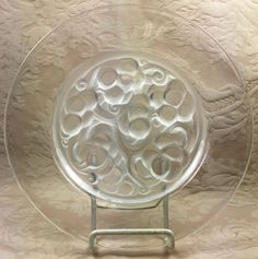 LALIQUE Marienthal Plate French Art Deco Art Glass Rene Lalique by FabulousAssets on Etsy