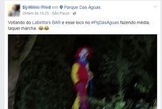 Em rede social, jovem diz ter visto palhaço no Paque das águas, na Zona Leste de São Paulo (Foto: Reprodução/Facebook)