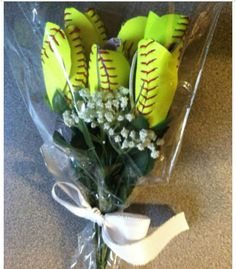 Softball flowers :)