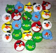 Angry birds containers #classtreat #felt