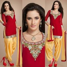 Buy BestSeller Designer Red And Mustard Color Patiala Salwar Suits For Women Online @AndaazFashionUS  #Designersuit #Redmustardcolor #patialasuit #partywear #punjabidress #womenswear #womenfashion #shoppingonline  Book Now :  https://www.andaazfashion.com/salwar-kameez/patiala-suits/patiala-suits-1391.html
