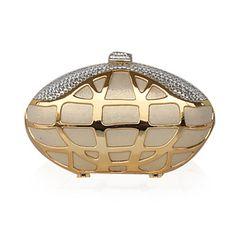 la seda con el hardware de oro del embrague / noche bolsa (más colores) – USD $ 41.99