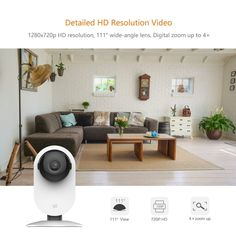 YI Home Camera HD Video Monitor IP Wireless Network Surveillance Security Night Vision Alert Motion Detection EU/US Version Wireless Network, Home Camera, Night Vision, Hd Video, Mobiles, Cameras, Monitor, Computers, Bluetooth