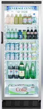 Summit SCR1300X 13.0 cu. ft. Beverage Center with Adjustable Wire Shelves, Automatic Defrost, Fluorescent Lighting, Door Lock, Thin-Line Design and Commercially Approved