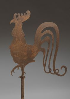 Robert Young Antiques - Folk Art Collection. Rare Silhouette Form Weathercock  #FolkArt