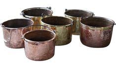 Antique log holder - basket - bin: in stock Firewood Holder, Log Holder, Wood Basket, Copper, Brass, Fireplace Accessories, Moscow Mule Mugs, Tableware, Baskets