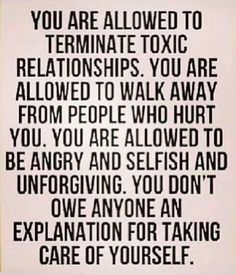 Must keep this in mind... Can't feel guilty for doing the right thing for me