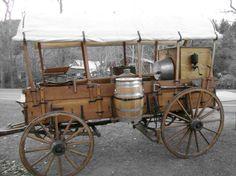 horse drawn chuck wagon....