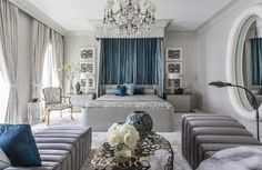 Today we'll continue with our weekly Thursday segment of Bedrooms by Top Interior Designers with Jamie Drake. Jamie Drake is one of the best interior designers in New York city, which is the same as s Gray Bedroom, Bedroom Decor, Burgundy Bedroom, Master Bedroom, Feminine Bedroom, Bedroom Bed, Bedroom Furniture, Modern Furniture, Jamie Drake