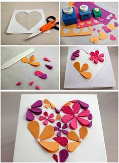 How To Make Flower Paper Artwork - Easy Craft Idea For Kids And . How to make flower paper artwork - Easy craft idea for kids and craft paper art - Paper Crafts Paper Flowers Craft, Paper Crafts Origami, Flower Crafts, Diy Paper, Origami Easy, Folded Paper Flowers, Paper Garlands, Flowers Decoration, Craft Ideas