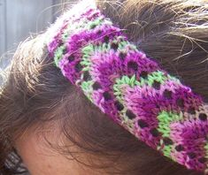 headband knitting up really cute!  I modified it to only 7 stitches for a doll!