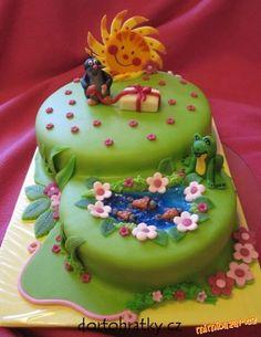 krtek u jezírka....dort na přání Ocean Cakes, Beach Cakes, Garden Birthday Cake, 16th Birthday, Birthday Photo Frame, Birthday Photos, Beautiful Cakes, Amazing Cakes, Spring Cake