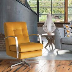 The Daxon swivel chair is ideal for pairing in a bright contrasting room or one with understated modern decor to provide a lovely pop of colour. Queen Size Sleeper Sofa, Barker And Stonehouse, Color Pop, Colour, Simple Elegance, Living Room Inspiration, Swivel Chair, Innovation Design, Modern Decor