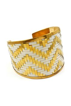 Meagan Cuff in Ivory on Gold on Emma Stine Limited