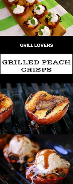 Grill Lovers' Amazing Grilled Peach Crisps Recipe #recipes #foodporn #foodie…