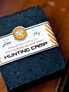 Hunting Camp Soap - Exfoliating, with activated charcoal