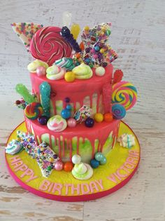 Candy Creation with dripping white chocolate ganache