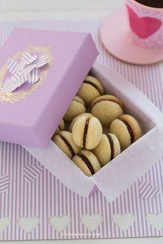 Baci di Dama, Recipe Italian Hazelnut Cookies, valentine's day recipe Italian Biscuits, Italian Cookies, Italian Desserts, Mini Desserts, Frozen Desserts, Italian Recipes, Hazelnut Cookies, Biscotti Cookies, Cookie Recipes