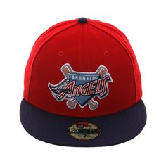 best service 90acb 2763d Exclusive 59Fifty Los Angeles Angels 1997 Logo Hat - 2T Red, Royal