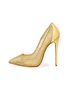 Sensible pumps? Please. Holiday parties are for appliqués, lace, beads, and high shine