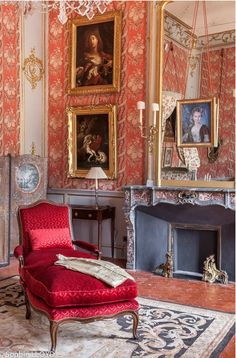 Hôtel de Caumont, Aix-en-Provence, France with 18th-century #fireplace