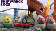 Thomas and Friends Cars Spongebob Surprise Eggs Kinder Transformers Ship...