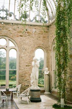Kilruddery House wedding photos in the Orangery by Catherine Ann Photography