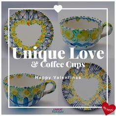 Coffee Cups, Decorative Plates, Valentines, Unique, Happy, Home Decor, Velentine Day, Valentine's Day Diy, Homemade Home Decor