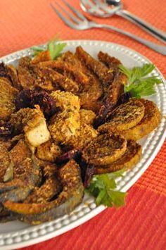 Gluten-Free Vegetarian Thanksgiving Event Pt.1: Un-Panko Roasted Squash Slices