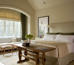 love the creams, muted peaches, and mossy greens...Houston, TX home shot by photographer John Granen.