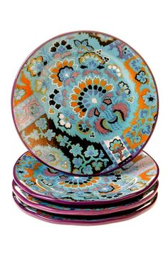 POETIC WANDERLUST Tracy Porter® For Poetic Wanderlust® 'Rose Boheme' Dessert Plates (Set of 4) available at #Nordstrom
