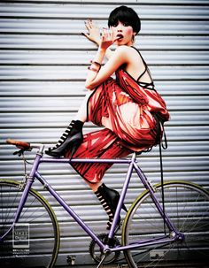 Vogue Japan's February issue, Kiko Mizuhara poses for Ellen von Unwerth Management) in a fashion shoot featuring head to toe looks from Gucci's Kiko Mizuhara, Ellen Von Unwerth, Vogue Fashion, Fashion Shoot, Editorial Fashion, Fashion Models, Vogue Japan, Vanity Fair, Fixed Gear Girl