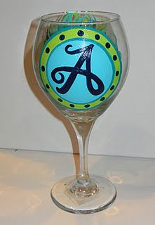 1000 images about a for aviva on pinterest letters for Wine glass painting tutorial