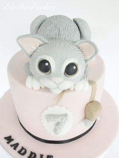 Blue-bird Cakes | gorgeous kitten birthday cake